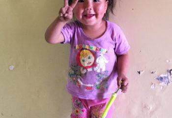 Petite fille de Mongolie