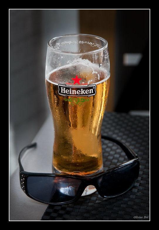 la premiere gorgée de biere