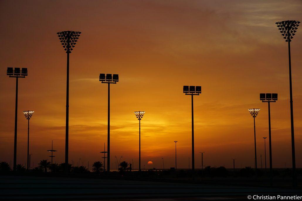 F1 Yas Marina sunset