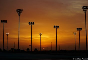 F1 Yas Marina sunset