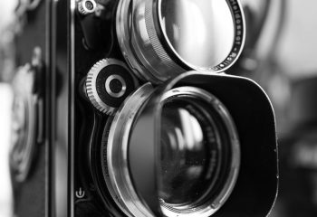 Rolleiflex through my Leica Q-P.