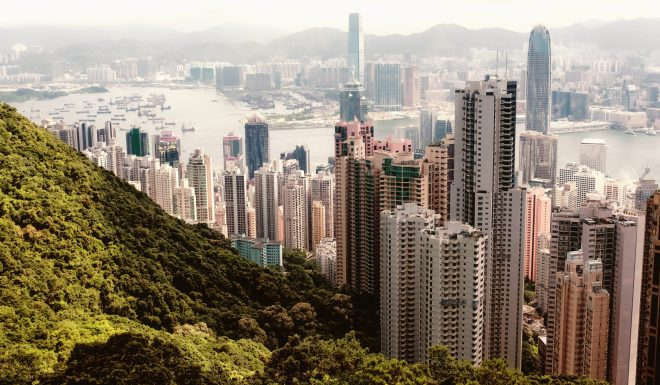 Hong Kong harbour view from the peak