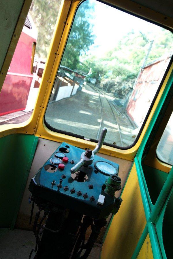 Cockpit du vieux train