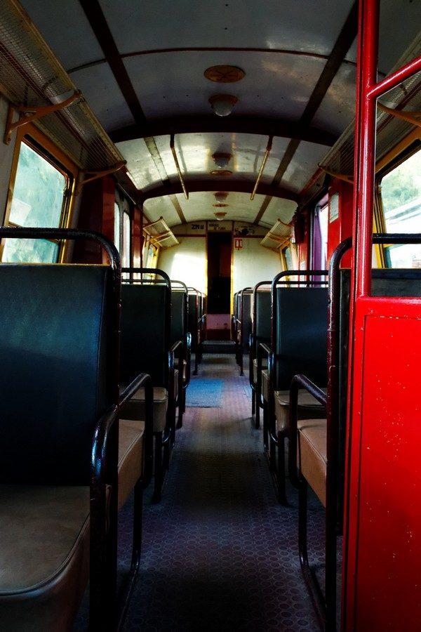 Intérieur du vieux train