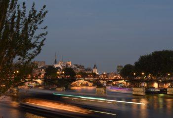 Paris sunset over the Ile de la Cité