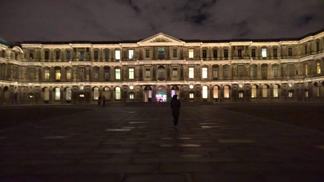 Silhouette au Louvre