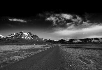 Gravel road - Iceland Landscape