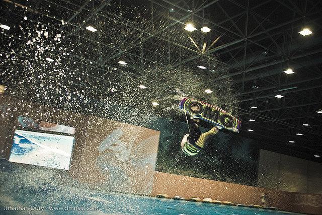 Indoor wakeboarding @ BoatShow DE