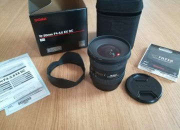 Sigma 10-20mm F4-5.6 EX DC for Canon