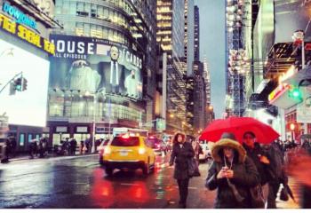 Rainy day on Broadway