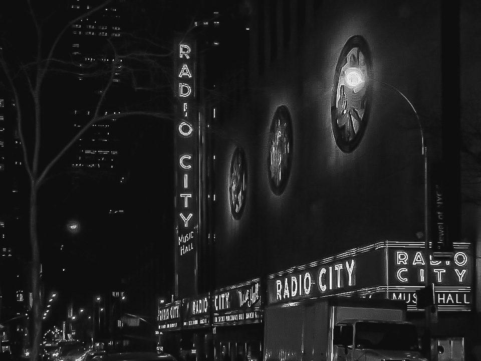 City lights in Manhattan