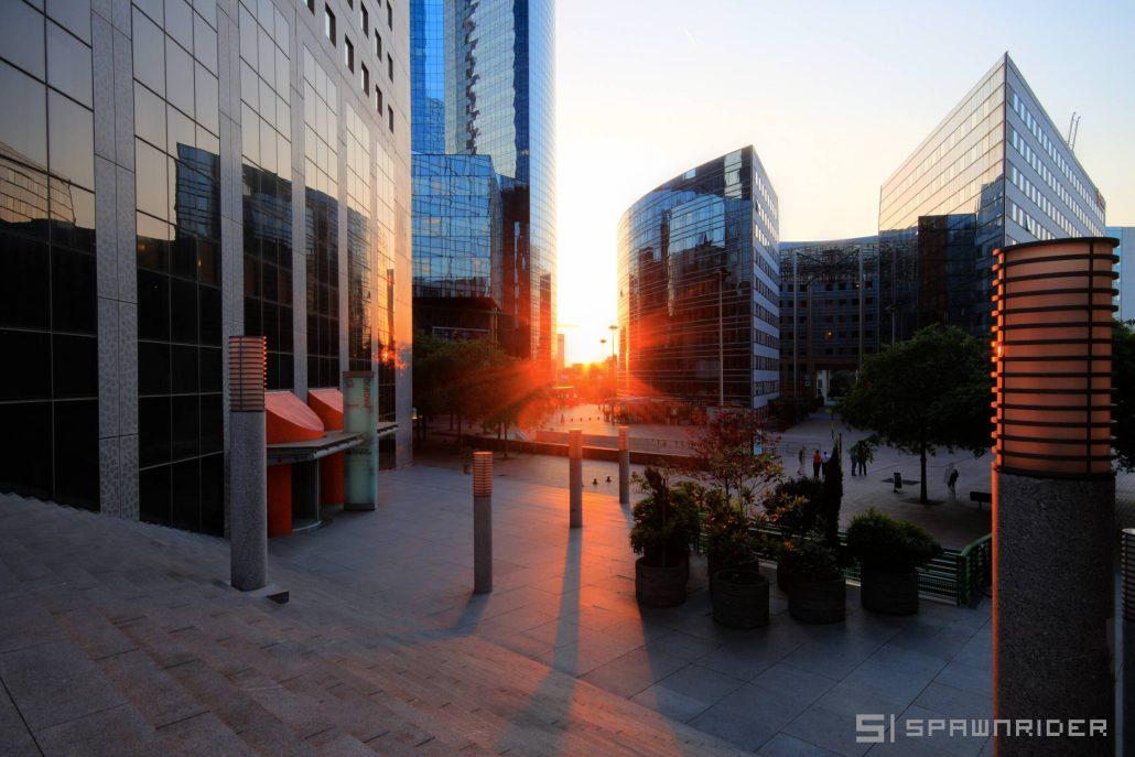 Couché de soleil sur la Défense