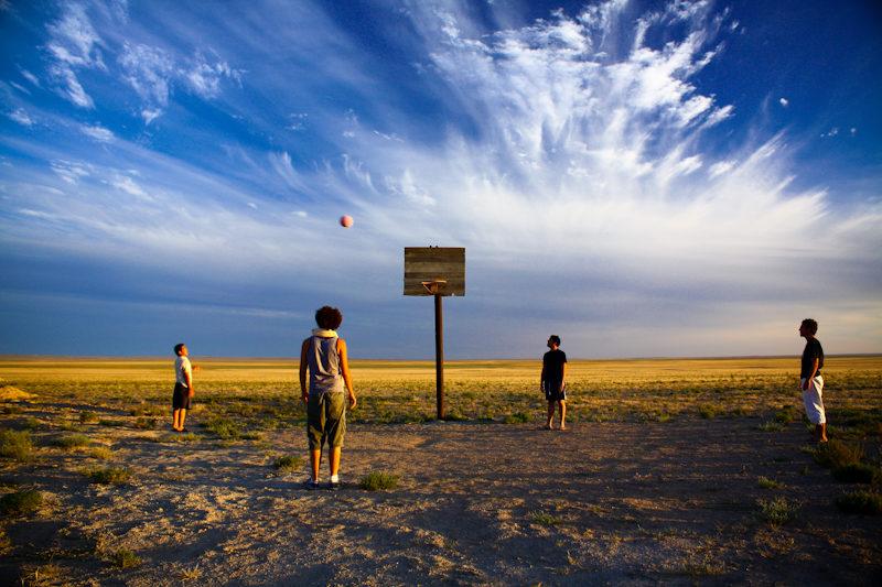 Basketball in Gobi