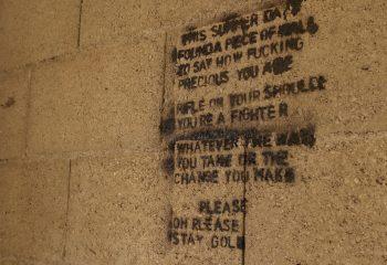 Un mur, des mots