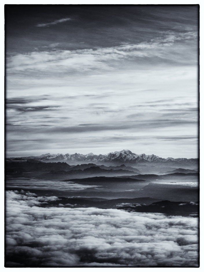 le Mont (noir et) Blanc