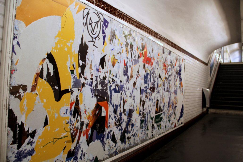 Des couleurs dans le métro