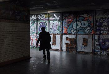 souterrain du métro Bastille. Paris