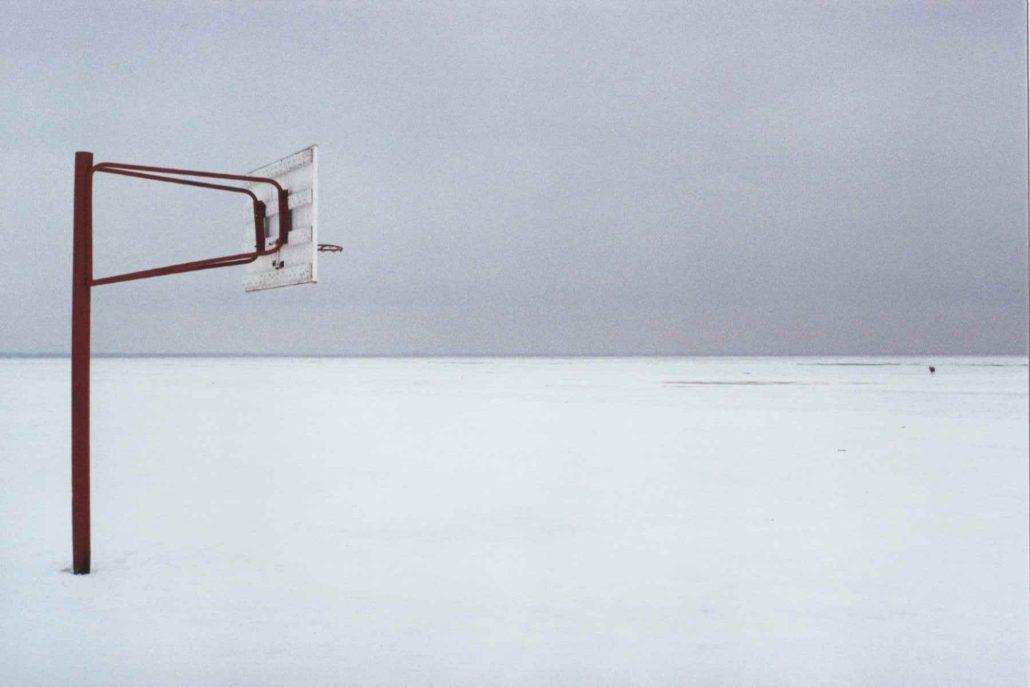 Face à la mer, de glace.