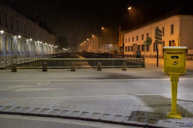 La Poste de Morez sous la neige
