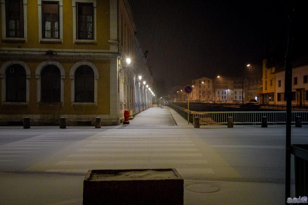 les Rues de Morez sous la neige