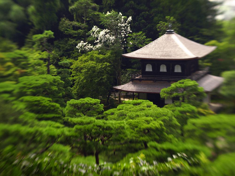 Ginkaku-ji temple (銀閣寺) in minivision,