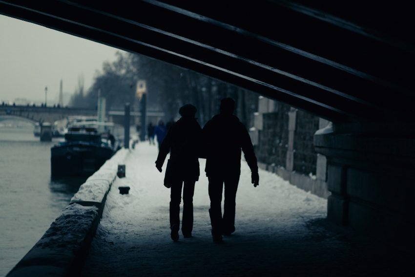 a cold walk
