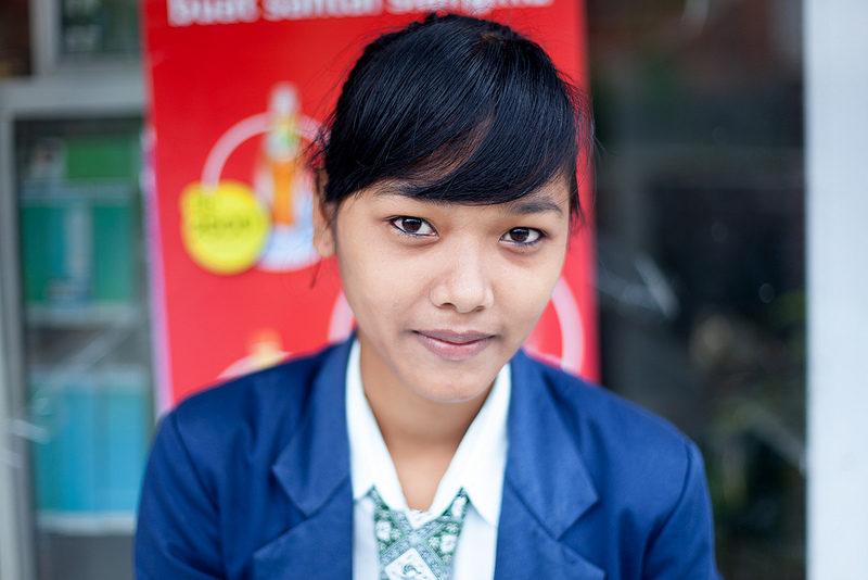 Girl pupil, Bali, Indonesia