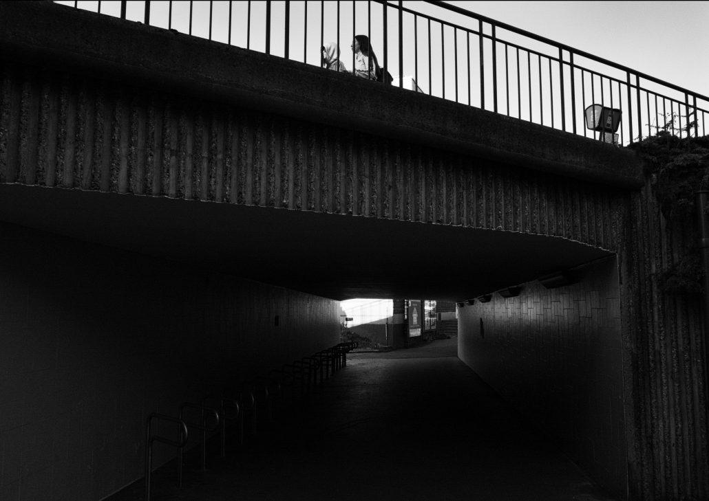 au dessus du tunnel