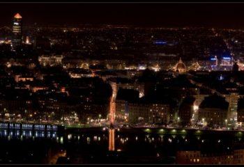 Panorama de Lyon de nuit