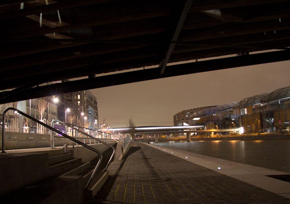 De sous le pont…