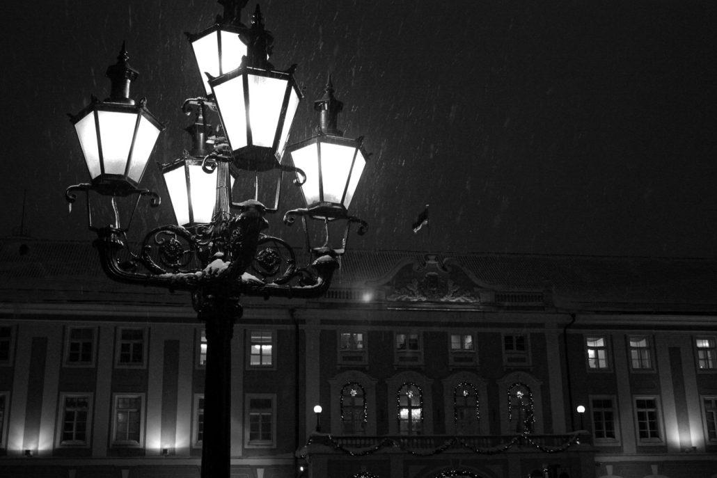 Snowy Night in Tallinn
