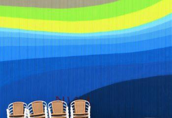 J'aime la couleur Les chaises