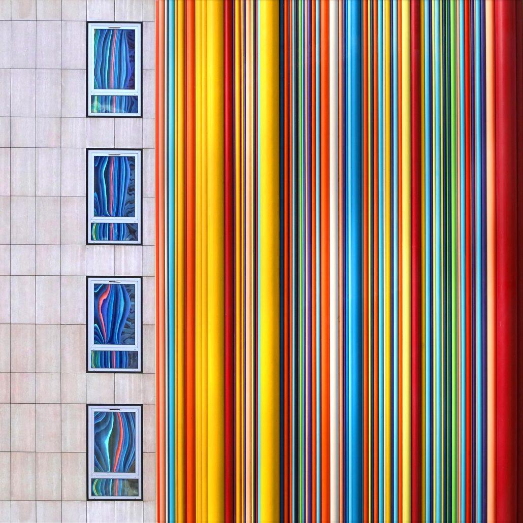 J'aime la couleur «Arc en ciel mural + reflets»