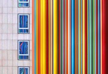 J'aime la couleur Arc en ciel mural + reflets