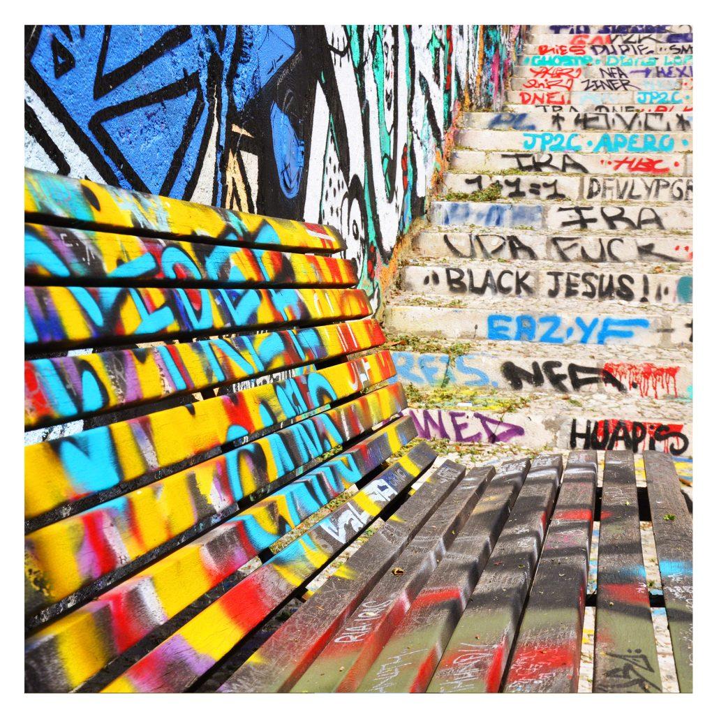 J'aime la couleur «Les bancs»