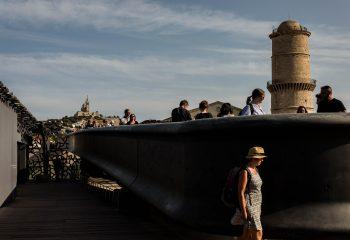 Notre-Dame de la Garde depuis le MUCEM. Marseille.