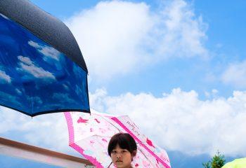 Piece of cloudy blue sky