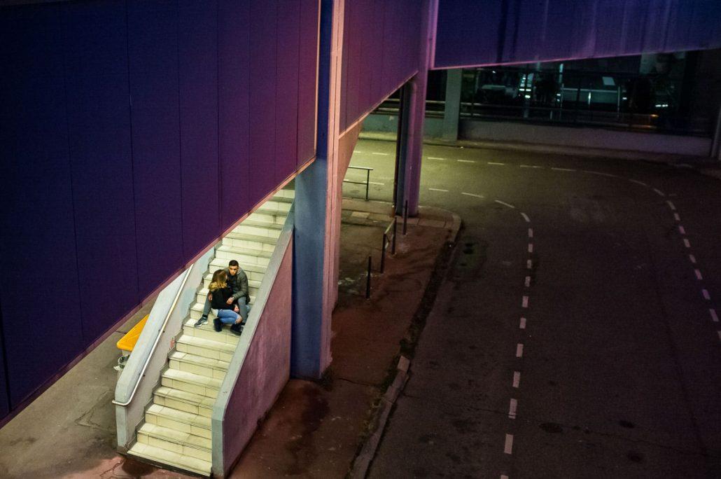 Urban romance round midnight …