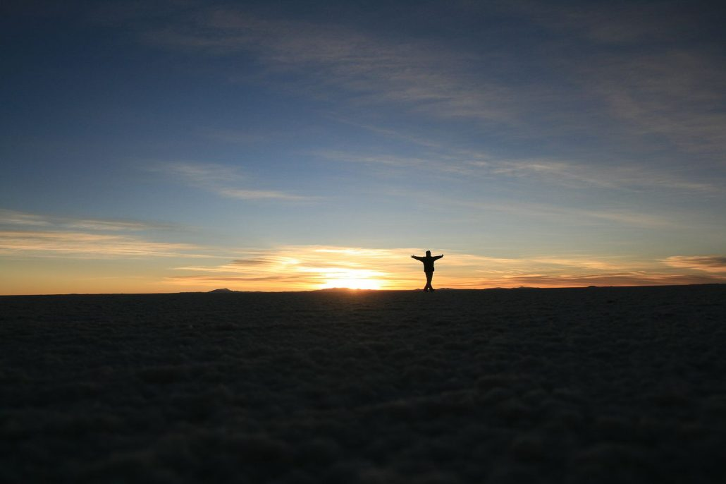 Matin heureux à Uyuni
