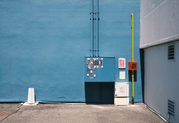 Mur bleu