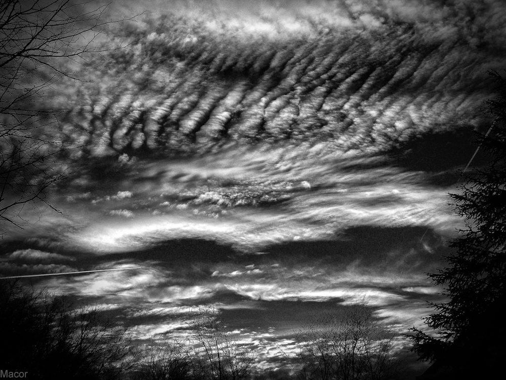 Ciel le soir à la Chambotte
