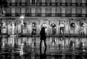 rainy night Bilbao
