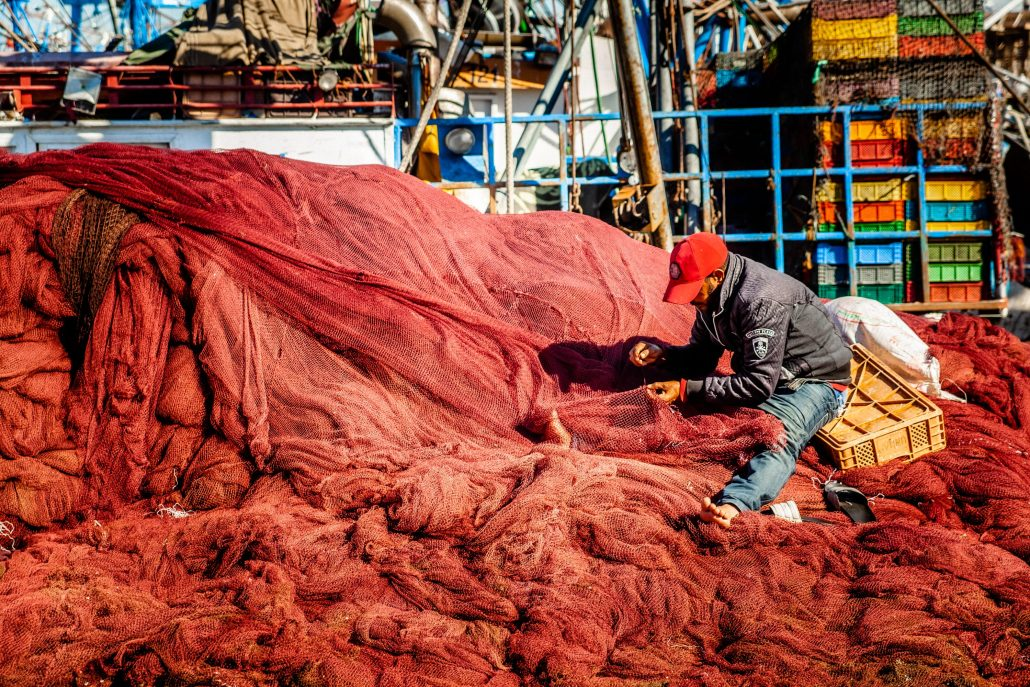 Réparateur de filet de pêche – Maroc