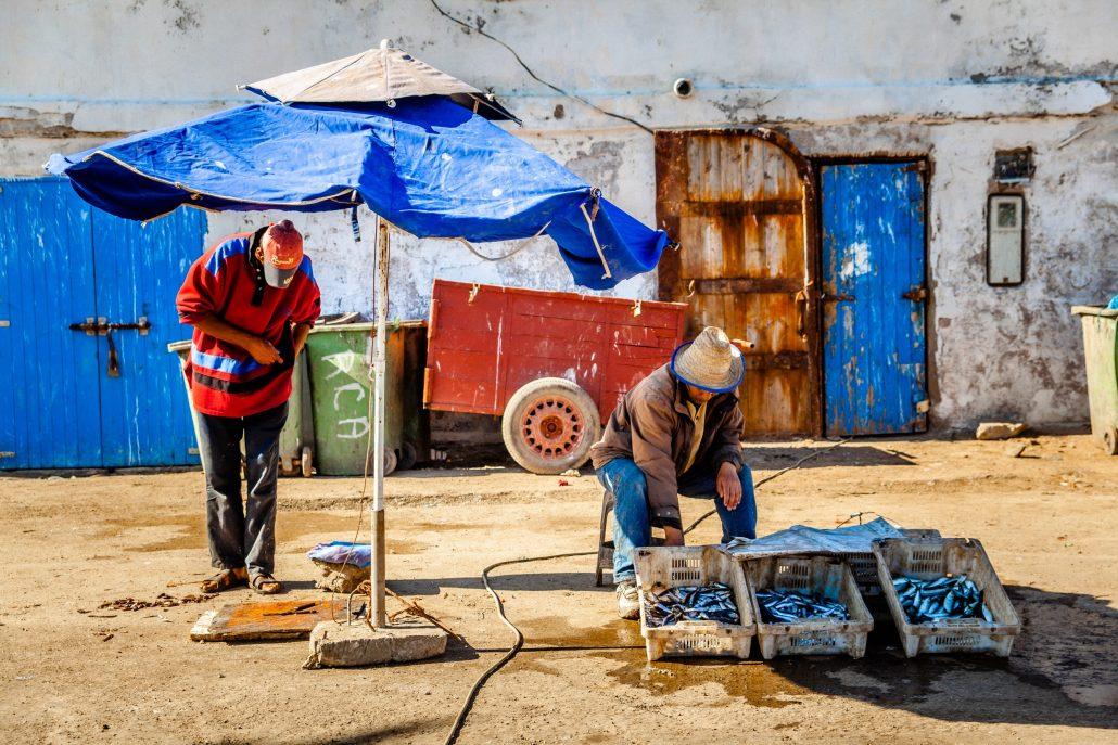 Vendeurs de poissons – Maroc