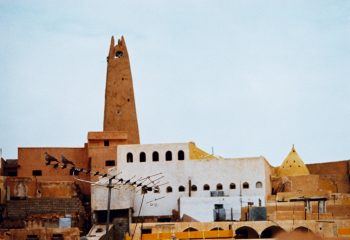 Antenna, pigeons and the mosque