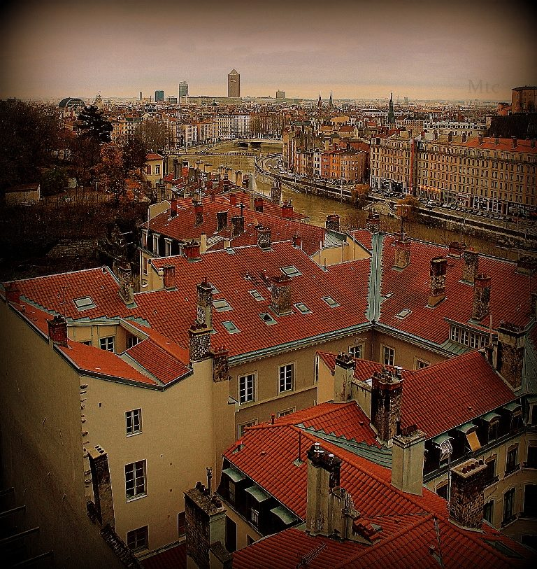 Lyon vu du ciel.