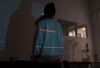 Projection de lignes sur maillot