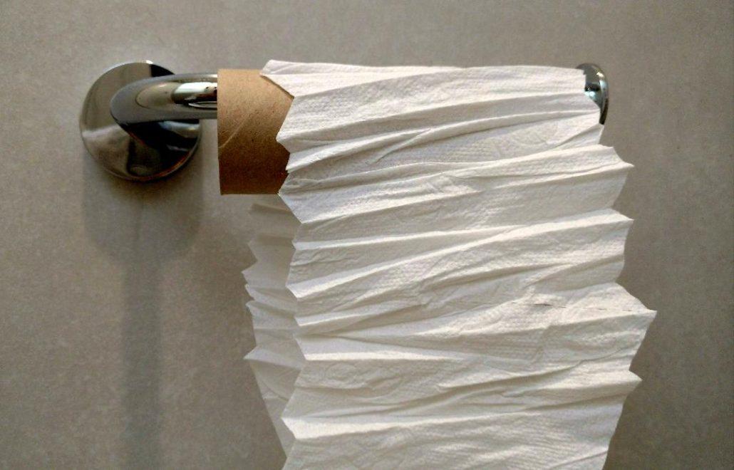 Rouleau de papier plié