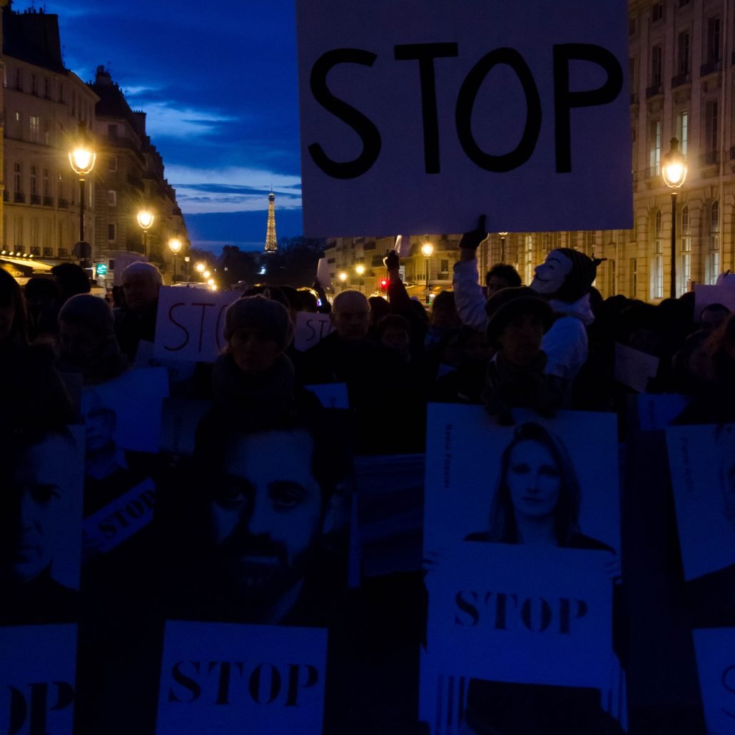 La vague blanche : manifestation pour la Syrie.