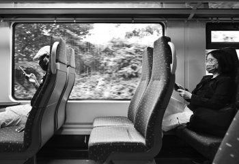 Message dans le train